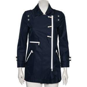 Gucci Navy Blue Cotton Toggle Button Jacket S
