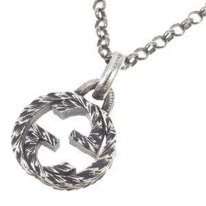 Gucci Interlocking G Sterling Silver Necklace