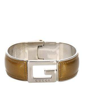Gucci Brown Leather Bracelet