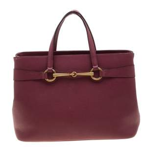 Gucci Cinnamon Pink Leather Bright Bit Tote