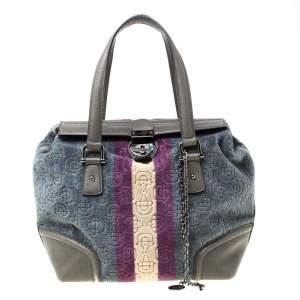 Gucci Multicolor Velvet Horsebit Treasure Small Boston Bag