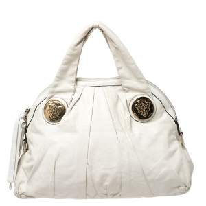 Gucci Light Beige Leather Hysteria Satchel