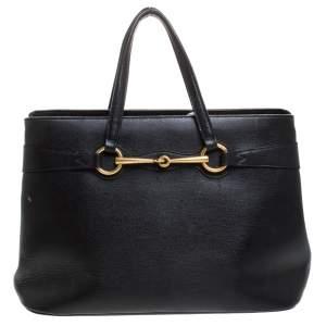 حقيبة يد غوتشي هورسبيت جلد سوداء