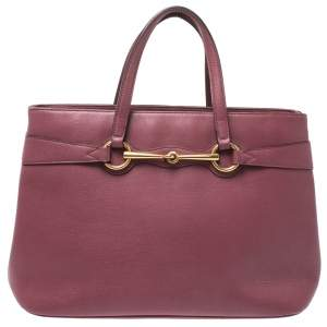 Gucci Pink Leather Medium Bright Bit Tote