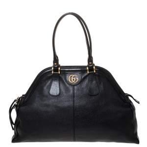 Gucci Black Leather Large Rebelle Satchel