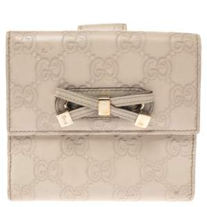Gucci Beige Guccissima Leather Princy Compact Wallet