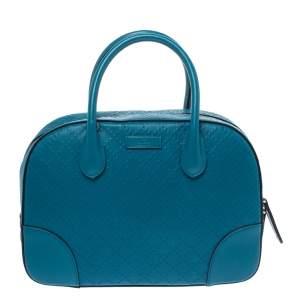 حقيبة غوتشيديامنتي جلد أزرق صغيرة
