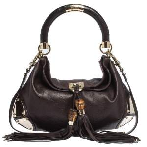 Gucci Brown Guccissima Leather Medium Babouska Indy Hobo