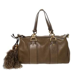 Gucci Olive Green Leather Smilla Satchel