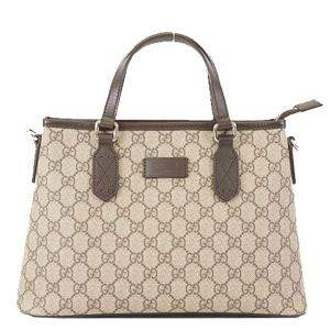 Gucci Beige/Brown GG Supreme Canvas Tote Bag