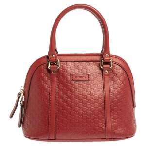 Gucci Red Microguccissima Leather Mini Dome Bag