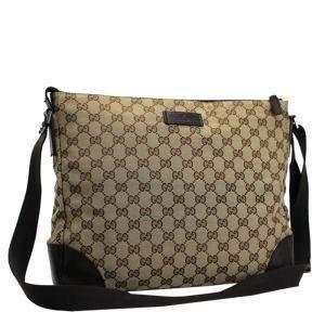 Gucci Beige/Brown GG Canvas Messenger Bag