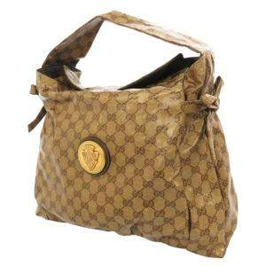 Gucci Brown/ Beige GG Crystal Hysteria Tote Bag