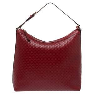 Gucci Red Microguccissima Leather Hobo