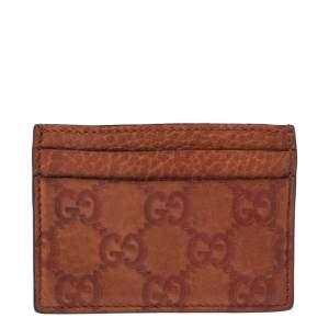 Gucci Orange Guccissima Leather Card Holder