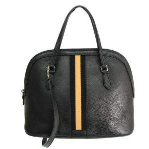 Gucci Black Leather Dome Satchel Bag
