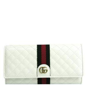 Gucci White Quilted Leather Wallet
