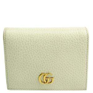 Gucci White Leather Petite Wallet