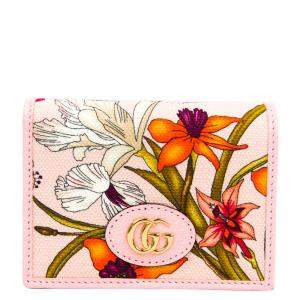 Gucci Pink Floral Leather Wallet