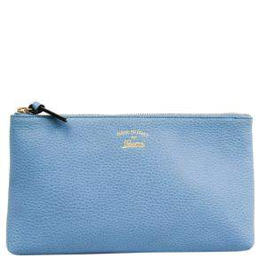 Gucci Blue Leather Swing Pouch