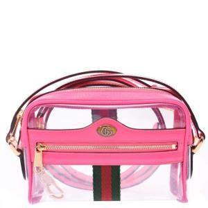 Gucci Pink Vinyl PVC Ophidia Clear Shoulder Bag