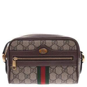 Gucci Beige/Brown Ophidia GG Supreme Canvas Mini Bag