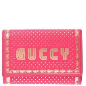Gucci Pink Leather GUCCY Shoulder Bag