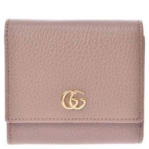 Gucci Pink Leather GG Marmont Wallet