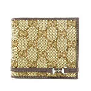Gucci Beige/Brown GG Canvas Bifold Wallet