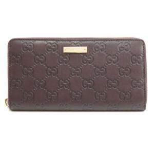 Gucci Brown Guccissima Leather Zip Around Wallet