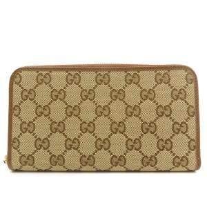 Gucci Beige/Brown GG Canvas Wallet