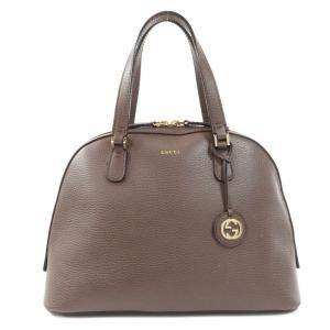 Gucci Brown Leather Dome Satchel Bag