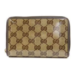 Gucci Beige/Brown GG Coated Canvas Wallet
