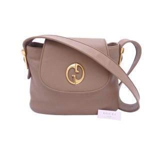 Gucci Brown Leather Shoulder Bag