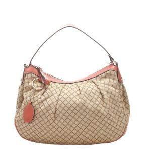 Gucci Beige/Brown Diamante Canvas Sukey Tote Bag