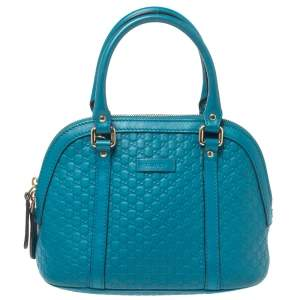 Gucci Teal Microguccissima Leather Mini Nice Dome Bag