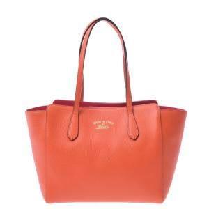 حقيبة غوتشي سوينغ جلد برتقالي