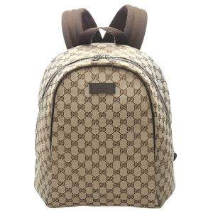 Gucci Brown/Beige GG Canvas Backpack