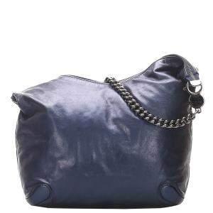 Gucci Blue Leather Galaxy Chain Hobo Bag