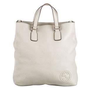 Gucci White Leather Soho Bag