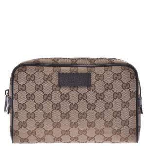 Gucci Brown/Beige GG Canvas Belt Bag