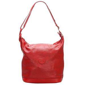Gucci Red Leather Vintage Hobo Bag