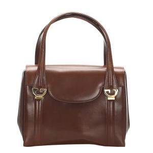 Gucci Vintage Brown Leather Bag