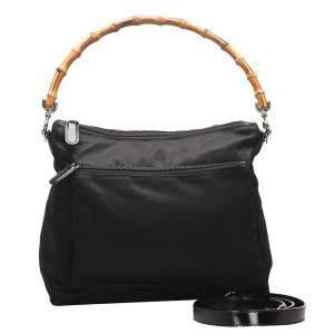 حقيبة غوتشي بامبو فينتدج نايلون سوداء