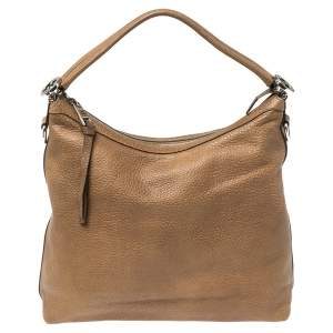 Gucci Brown Leather Miss GG Hobo