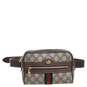 Gucci Beige/Ebony GG Supreme Coated Canvas and Leather Ophidia Belt Bag