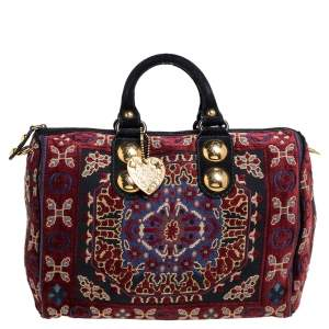 Gucci Multicolor Tapestry Fabric Large Babouska Boston Bag