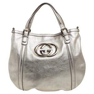 Gucci Gold Leather Britt Hobo