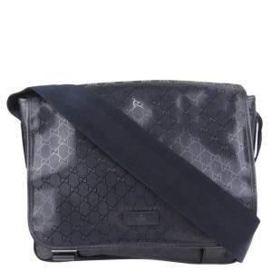 Gucci Blue Nylon GG Canvas Diaper Bag