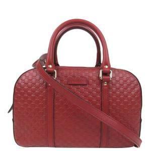 حقيبة غوتشي جلد مايكروغوتشيسيما أحمر